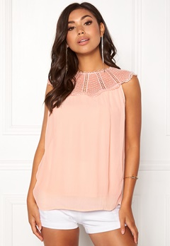 VILA Kiva S/L Top Peach Blush Bubbleroom.no