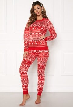 VILA Kosi Knit Leggings Racing red Bubbleroom.no