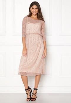 VILA Kyle Long 3/4 Dress Peach Blush Bubbleroom.no