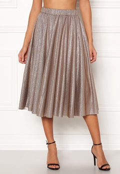 VILA Lena Midi Skirt Dusty Camel Bubbleroom.no