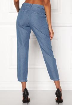 VILA Liama 7/8 Straight Pants Medium Blue Denim Bubbleroom.no