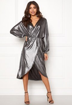 VILA Limma Midi Dress Silver Bubbleroom.no