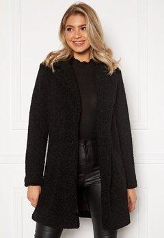 VILA Liosi Teddy Coat Black Bubbleroom.no