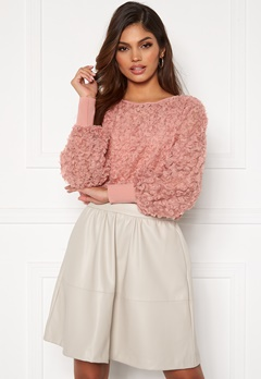 VILA Litta New L/S Top Old Rose Bubbleroom.no
