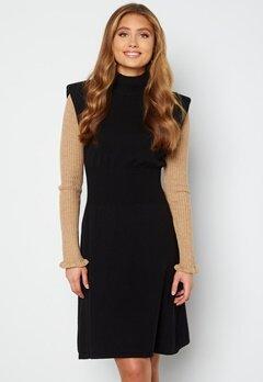 VILA Liv S/L Knit Dress Black bubbleroom.no