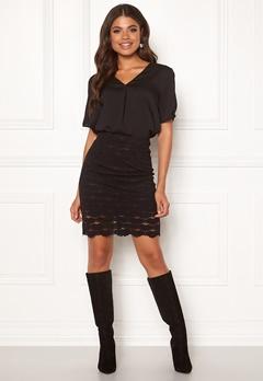 VILA Lizette Skirt Black Bubbleroom.no