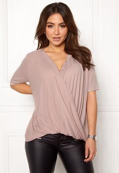 VILA Lolla S/S T-shirt/PB Adobe Rose Bubbleroom.no