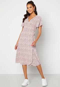 VILA Lovie S/S Wrap Midi Dress Lavender Bubbleroom.no