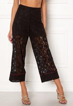 VILA Luas Cropped Lace Pants Black Bubbleroom.no