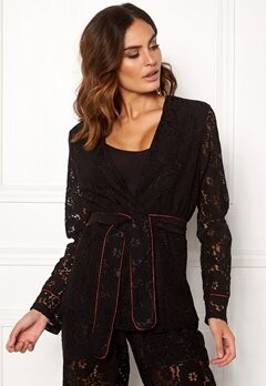 VILA Luas Lace Blazer Black Bubbleroom.no