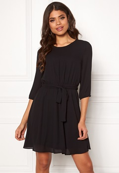 VILA Lucy 3/4 Sleeve Dress Black Bubbleroom.no