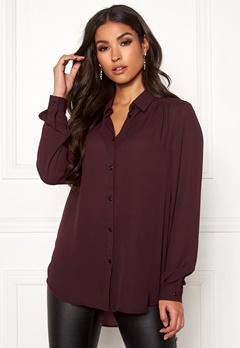 VILA Lucy L/S Button Shirt Winetasting Bubbleroom.no