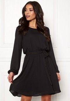 VILA Lucy L/S Dress Black Bubbleroom.no