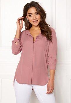 VILA Lucy L/S Shirt Ash Rose Bubbleroom.no