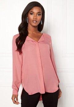 VILA Lucy L/S Shirt Brandied Apricot Bubbleroom.no