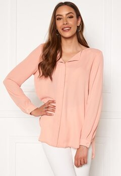 VILA Lucy L/S Shirt Misty Rose Bubbleroom.no