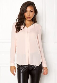 VILA Lucy L/S Shirt Peach Blush Bubbleroom.no