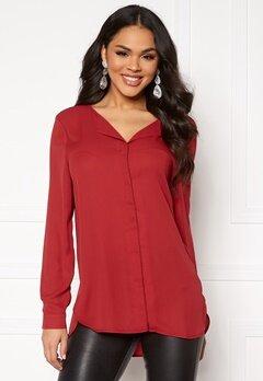 VILA Lucy L/S Shirt Scarlet Sage Bubbleroom.no
