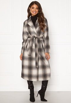 VILA Lulus Wool Coat Simply Taupe : Check Bubbleroom.no