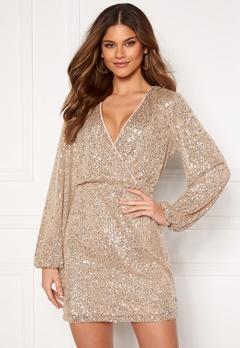 VILA Lyc L/S Short Dress Frosted Almond Bubbleroom.no
