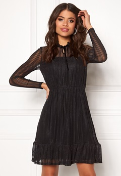 VILA Manja L/S Dress Black Bubbleroom.no