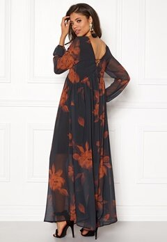 VILA Melaki 3/4 Sleeve Dress Black Bubbleroom.no