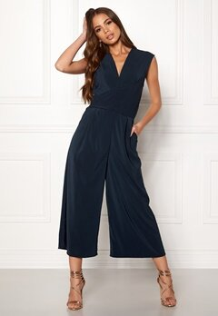 VILA Melis S/L Drapped Jumpsuit Total Eclipse Bubbleroom.no