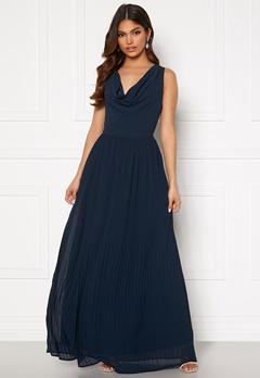 VILA Micada Draped  Maxi Dress Navy Blazer Bubbleroom.no