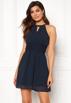 VILA Milina Halterneck Dress Total Eclipse Bubbleroom.no