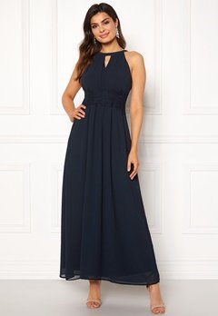 d16f20b3f5ed VILA Milina Maxi Dress Total Eclipse Bubbleroom.no
