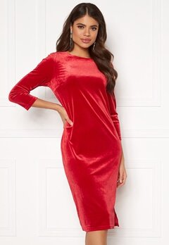 VILA Minny Velvet Dress Scarlet Sage Bubbleroom.no