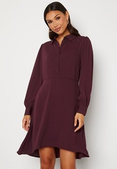 VILA Nalu L/S Dress Winetasting Bubbleroom.no