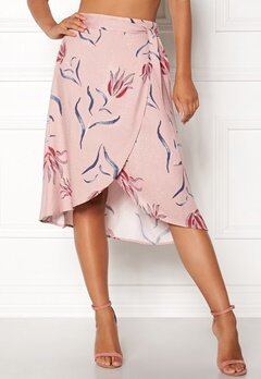VILA Nandi Wrap Midi Skirt Adobe Rose Bubbleroom.no