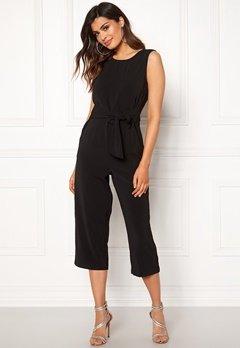 VILA Nathalia Cropped Jumpsuit Black Bubbleroom.no