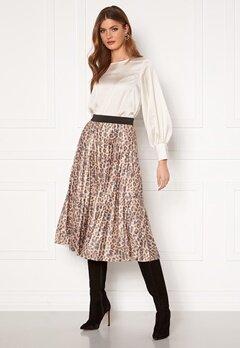 VILA Nitban Print Skirt Nomad Leo Bubbleroom.no