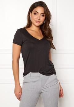 VILA Noel S/S T-shirt Black Bubbleroom.no