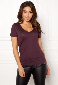 VILA Noel S/S T-shirt Winetasting Bubbleroom.no