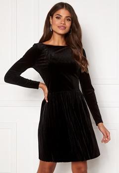 VILA Oelle Boatneck 3/4 Sleeve Dress Black Bubbleroom.no