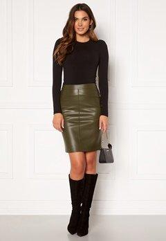 VILA Pen New Coated Skirt Forest Night Bubbleroom.no