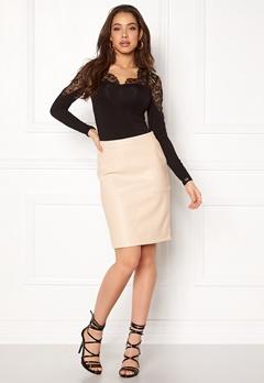 VILA Pen New Skirt Sandshell Bubbleroom.no
