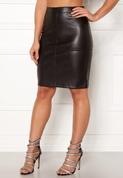 VILA Pen Skater Skirt Black Bubbleroom.no