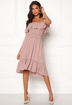 VILA Petra S/S Dress Adobe Rose Bubbleroom.no