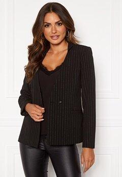 VILA Pinia L/S Blazer Black Stripes Silver Bubbleroom.no