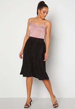 VILA Pliss Midi Skirt Black Bubbleroom.no