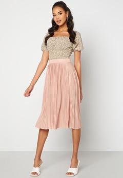 VILA Pliss Midi Skirt Misty Rose Bubbleroom.no