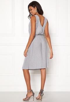 VILA Pliss S/L Dress Light Grey Melange Bubbleroom.no