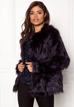 VILA Poppy Faux Fur Jacket Astral Aura Bubbleroom.no