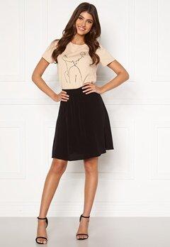 VILA Primera Skirt Black Bubbleroom.no