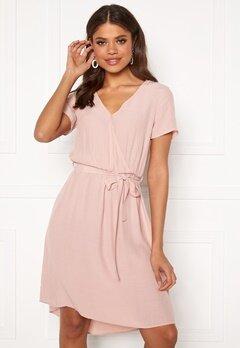 VILA Primera Wrap S/S Dress Pale Mauve Bubbleroom.no