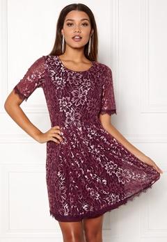 VILA Rachel 2/4 Dress Fig Bubbleroom.no